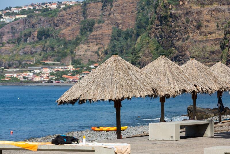 Vew της ακτής Ribeira Brava στο νησί της Μαδέρας στοκ φωτογραφίες με δικαίωμα ελεύθερης χρήσης