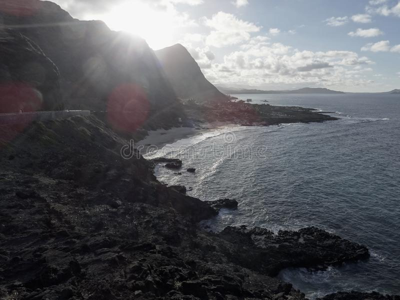 "Vew του Makapu νησί ahu παραλιών του u ""στο Ο "", Χαβάη στοκ εικόνες"