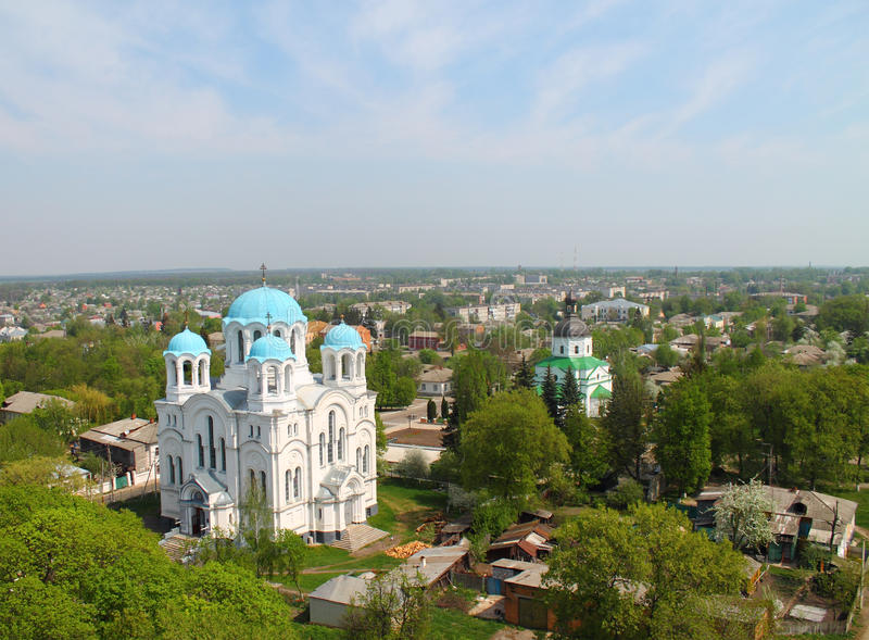 Vew de la ville de Hlukhiv image libre de droits