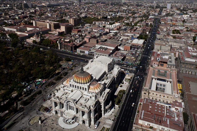 Vew de Mexico l'après-midi photo stock