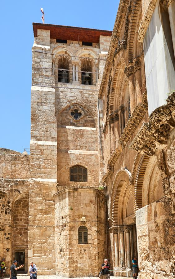 Free Vew On Main Entrance To The Church Of The Holy Sepulchre In Old City Royalty Free Stock Photos - 154099168