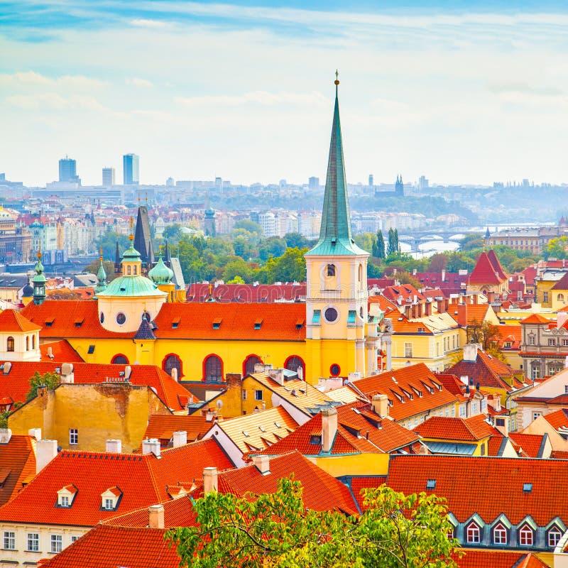 Vew von Prag lizenzfreies stockbild