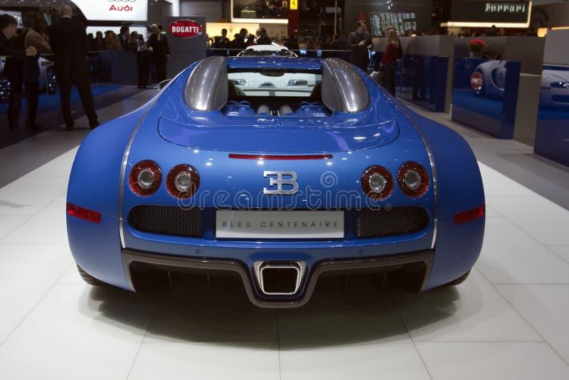veyron 2009 de Salon de l'Automobile de Genève de centenaire de bugatti photos libres de droits