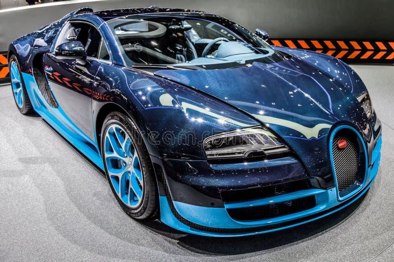 veyron 2012 för sport för bugattigeneva storslagen motorshow arkivbilder