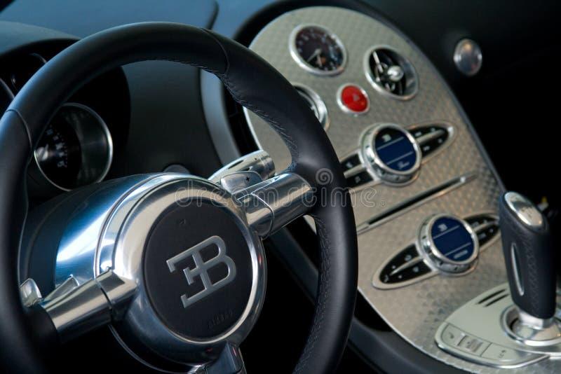 Veyron interno do bugatti foto de stock royalty free