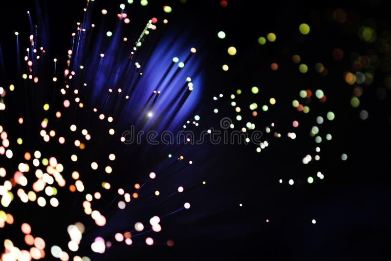 Vezel optisch lichteffect stock afbeeldingen