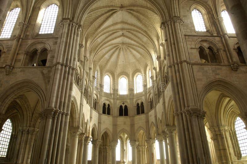 vezelay的大教堂 库存照片