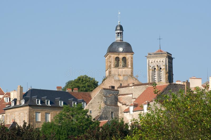 Vezelay, Франция стоковое фото rf