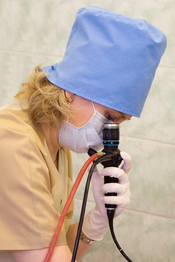 Vezeloptische endoscopie stock foto's