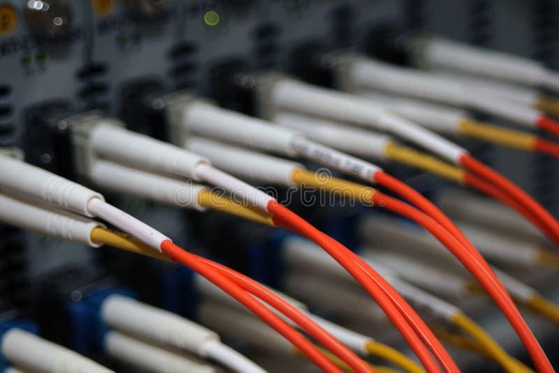 Vezeloptische kabels royalty-vrije stock foto