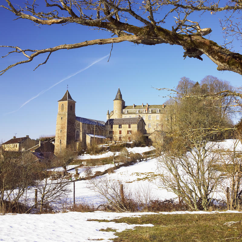 Download Vezins-de-Levezou Castle stock photo. Image of vezins - 17019268