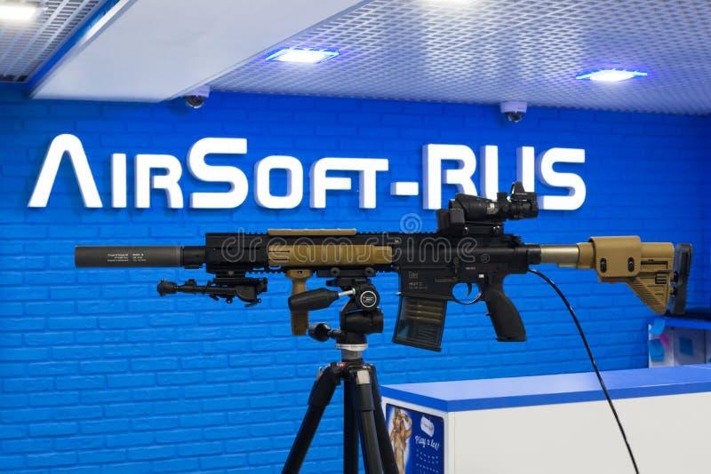 VFC-Ordeverstoorder & het Geweer van de Eliteairsoft AEG van Koch HK417 royalty-vrije stock foto