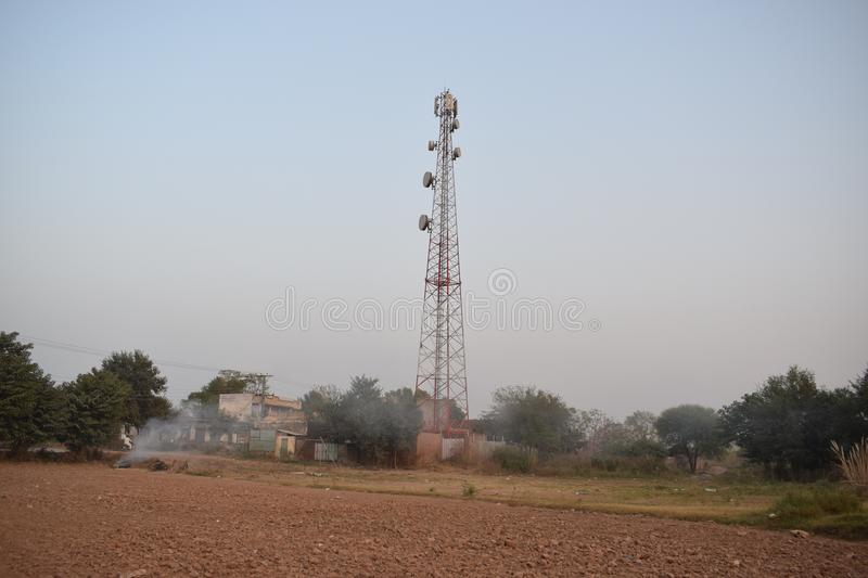 Vfone & Ufone Tower Network Coverage Tower royalty free stock photo