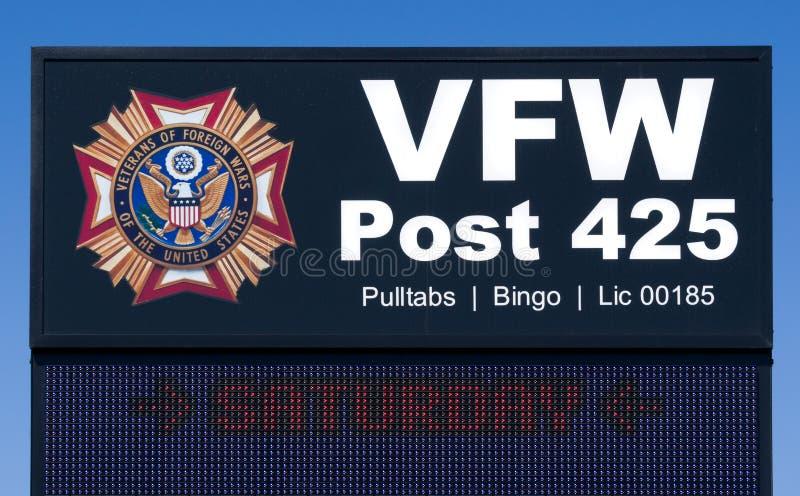 VFW Post Exterior Sign and Logo royalty free stock photos
