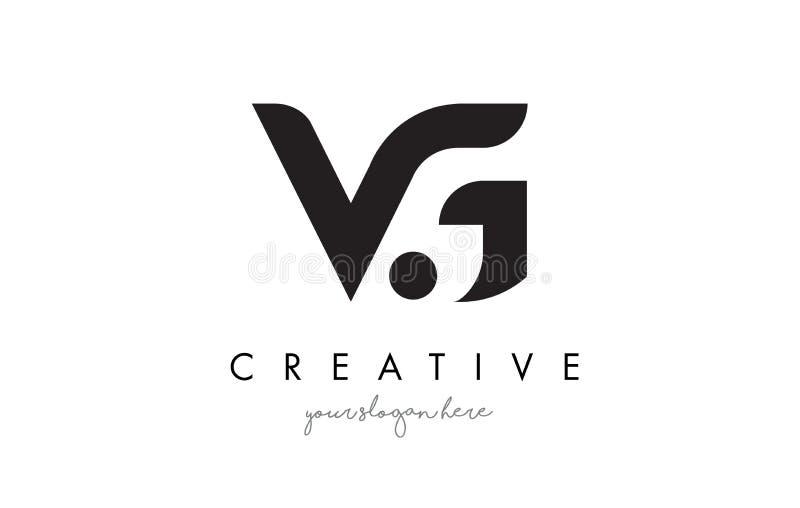 Vg-bokstav Logo Design med idérik modern moderiktig typografi vektor illustrationer