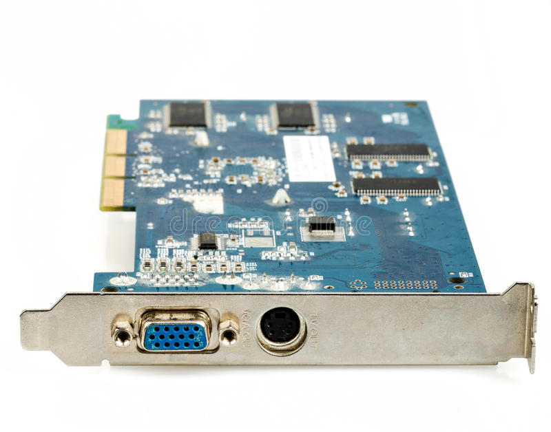 Download VGA Computer Graphic Card Isolated Stock Photo - Image: 38264212