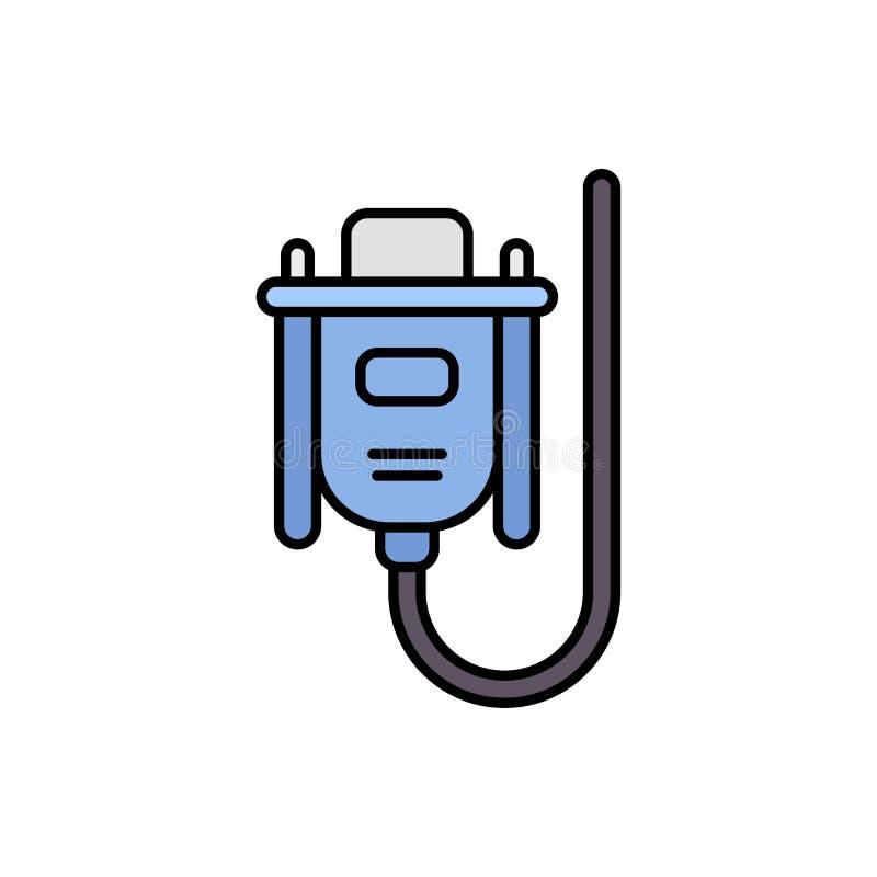 VGA kabla ikony znaka p?aski wektorowy symbol royalty ilustracja