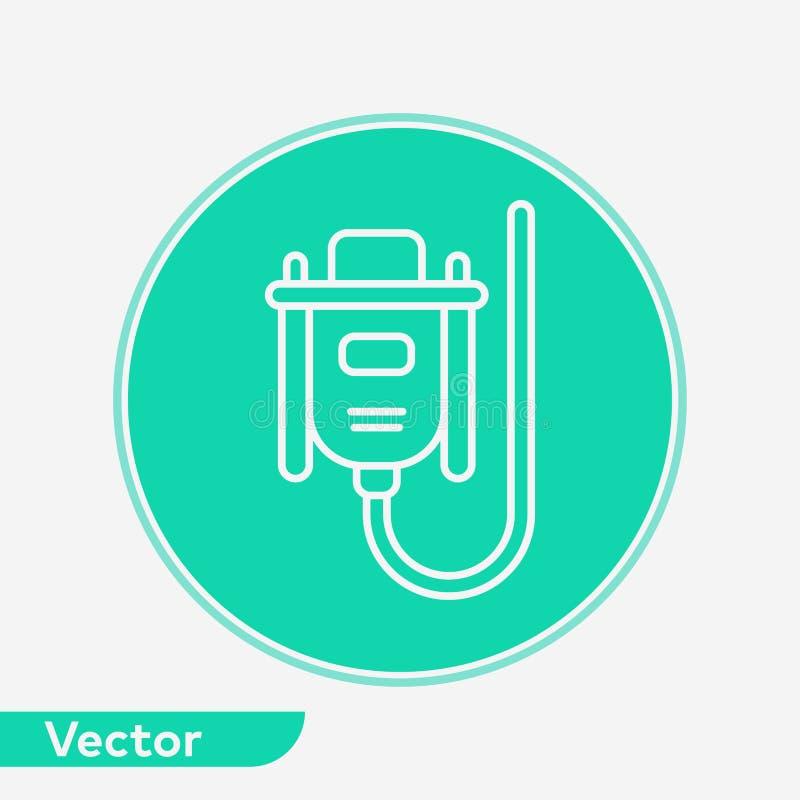 VGA kabla ikony znaka wektorowy symbol ilustracji