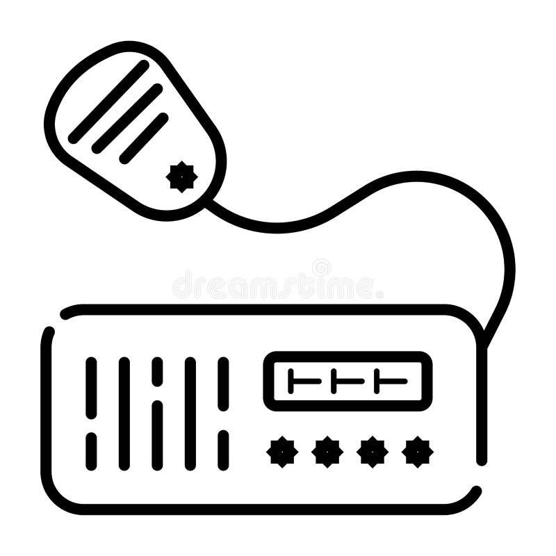 VHF radio transceiver icon vector royalty free illustration