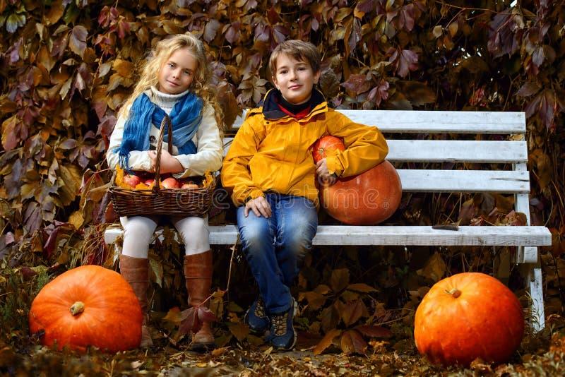 Vhildren-Herbstmode stockbilder
