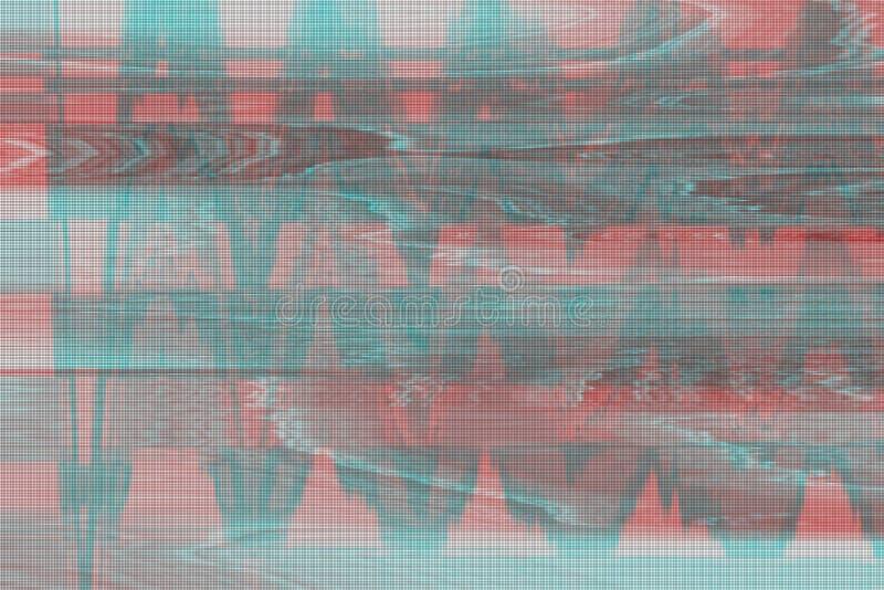 VHS小故障背景人工制品噪声,损伤屏幕小故障 图库摄影