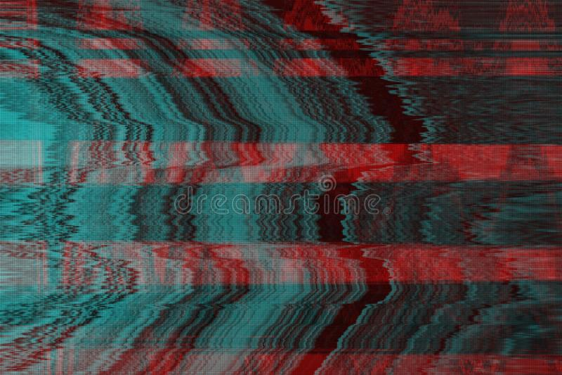 VHS小故障背景人工制品噪声,显示 向量例证
