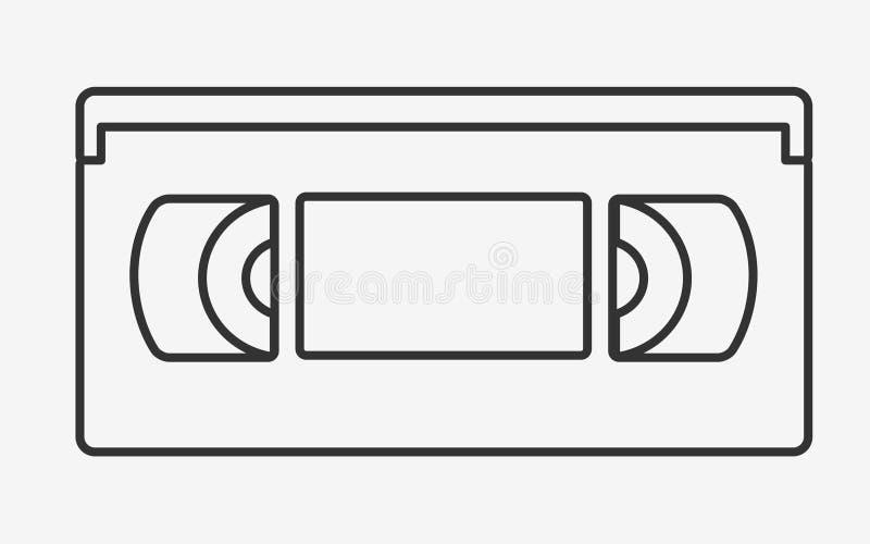 VHS磁带平的象 向量例证