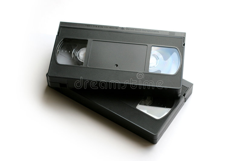 VHS-2. Vhs cassette on white background royalty free stock image