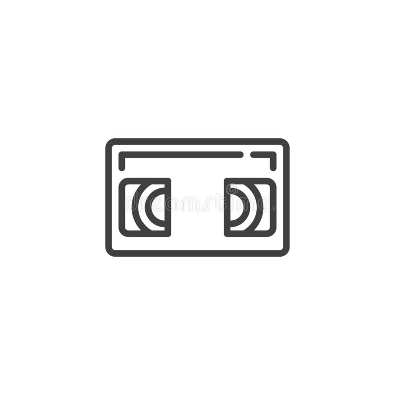 VHS Cassette line icon vector illustration