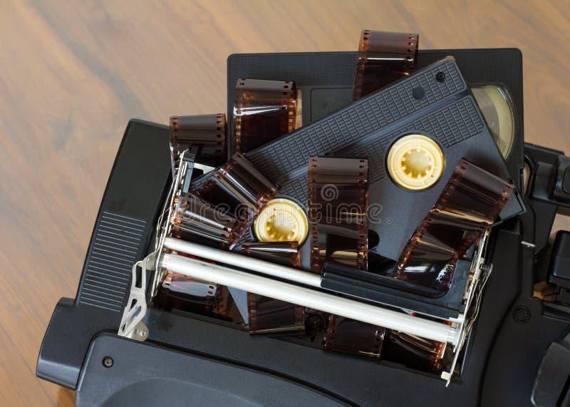 Vhs cassette met film stock fotografie