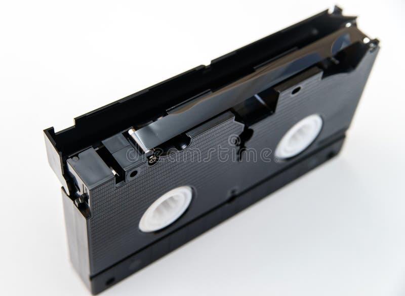 VHS-cassette met magnetische film royalty-vrije stock afbeeldingen