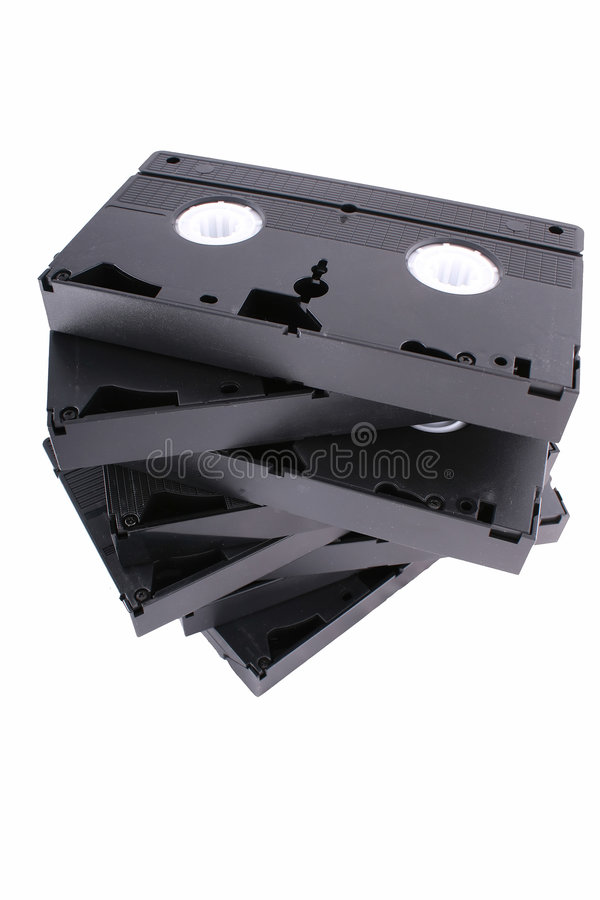 Vhs cassette tape. Vhs tape casette white background old technology stock photos