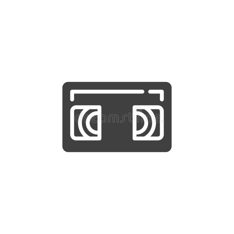 VHS Cassette vector icon vector illustration