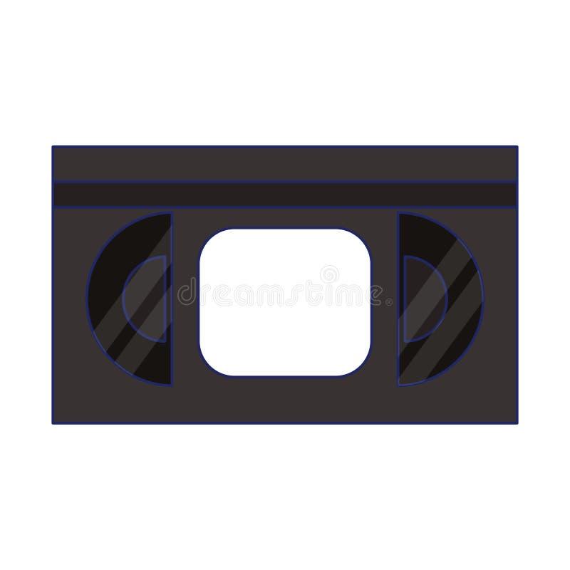 VHS movie reel. VHS videotape movie reel symbol isolated vector illustration graphic design vector illustration
