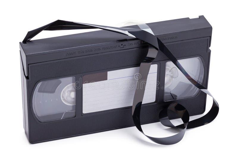 Broke VHS Tape stock photo