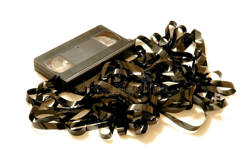 Download VHS Tape unwound - full stock image. Image of unwound, movie - 49727