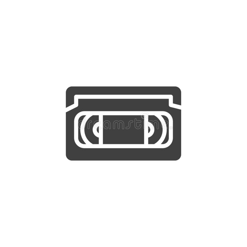 VHS tape vector icon royalty free illustration