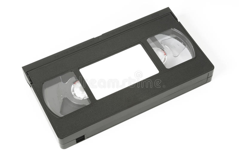 VHS video tape. On white background stock photos