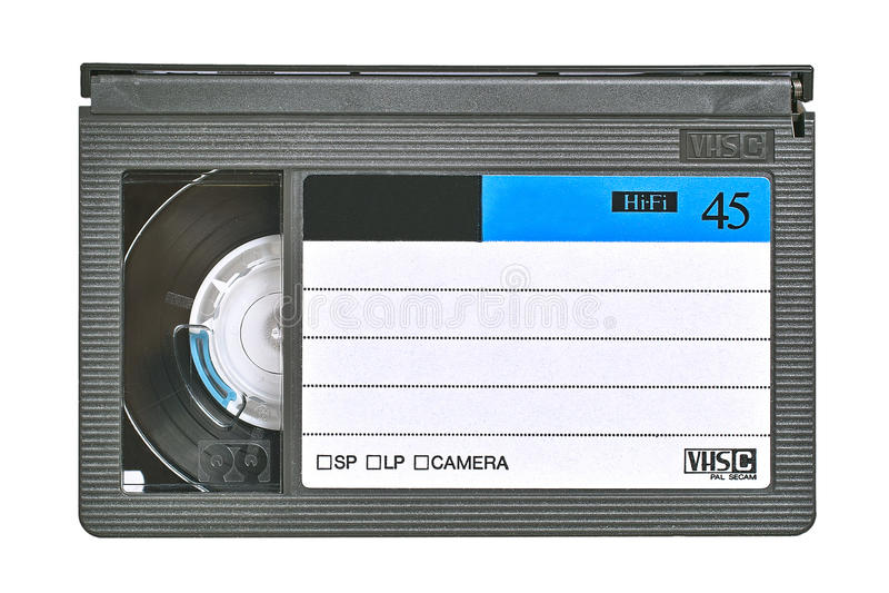 VHS-videokassette stockfotografie