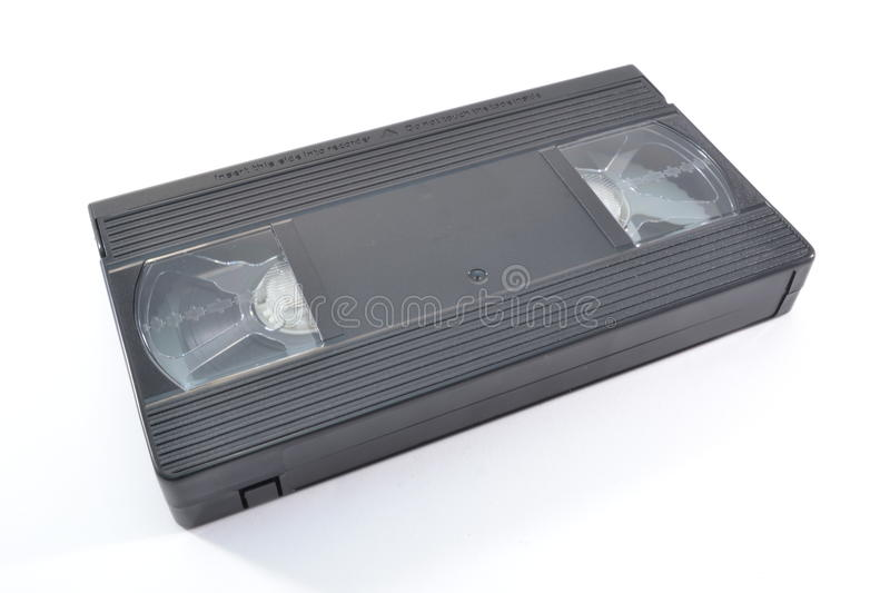 VHS videotape. A VHS videotape isolated on white background stock photography