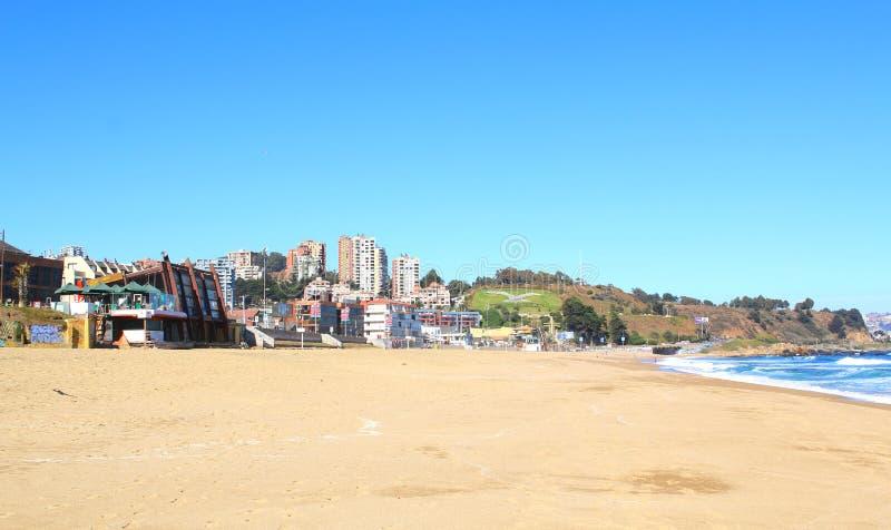 Viña del Mar and Reñaca, Chile, beach view. Viña del Mar and Reñaca, Chile, Latin America. beach view stock photo