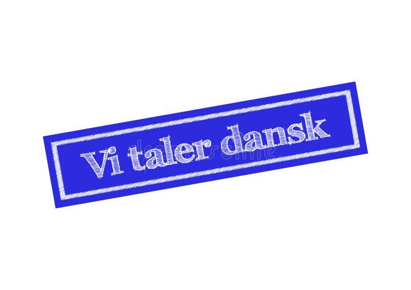 vi塔勒dansk -我们讲在丹麦横幅传染媒介例证的丹麦语 皇族释放例证