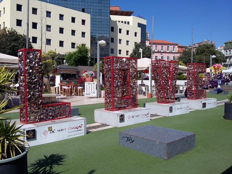 Vi älskar Portugal royaltyfria foton