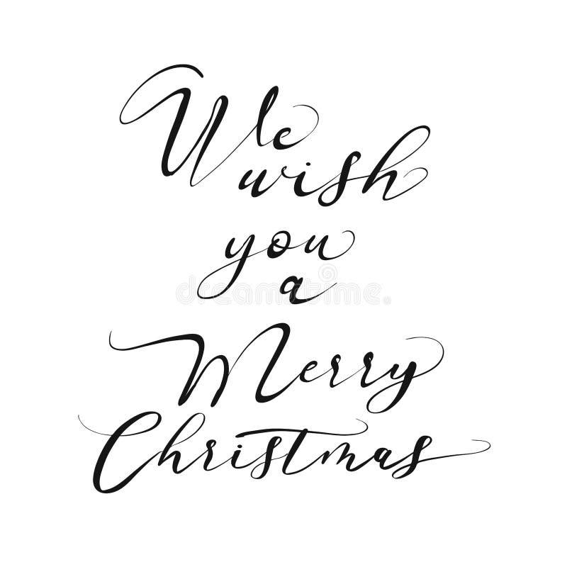 Vi auguriamo un'iscrizione di Buon Natale illustrazione vettoriale