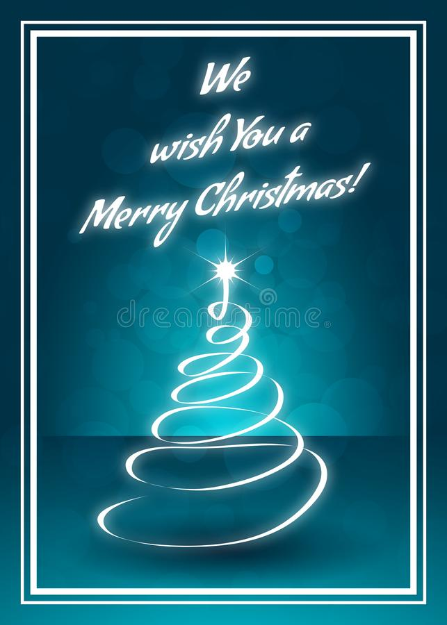 Vi auguriamo una cartolina d'auguri di Buon Natale royalty illustrazione gratis