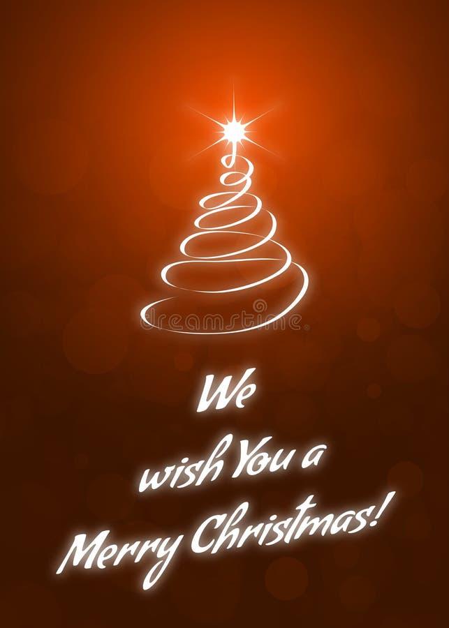 Vi auguriamo una cartolina d'auguri di Buon Natale illustrazione di stock