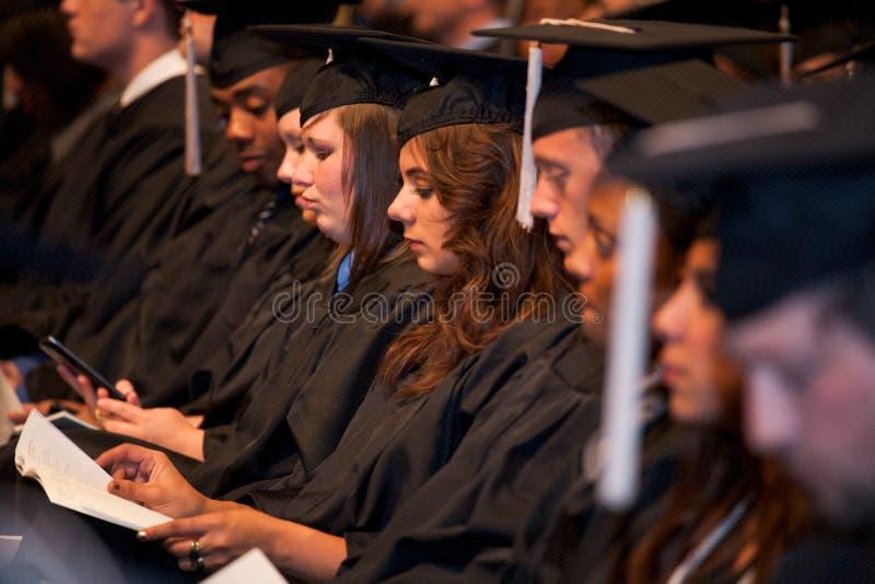 Vi avlägger examen! royaltyfri fotografi