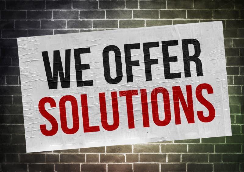 Vi erbjuder lösningar vektor illustrationer