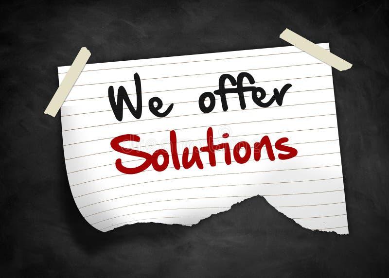 Vi erbjuder lösningar royaltyfri illustrationer