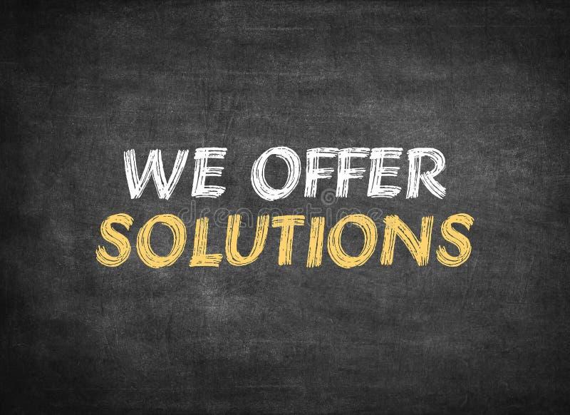 Vi erbjuder lösningar royaltyfri foto